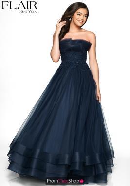 bb89e13feea1 Flair Dress 19051. Magenta; Navy. Flair Full Figured Beaded ...