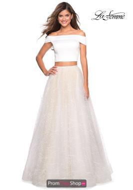 108b00a47ea La Femme Dress 27478. White