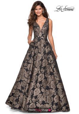 c9291faec0198 La Femme Dress 27482. Gold/Black