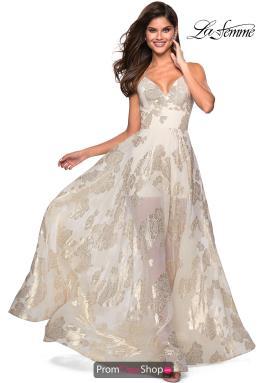 8cb6ec8fe75 La Femme Dress 27547. Ivory Gold