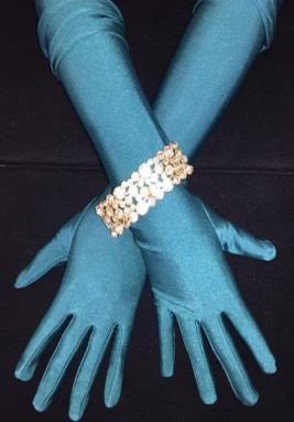 TealGreenMatteGloves