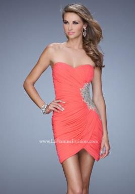 La Femme Short Dress 21344