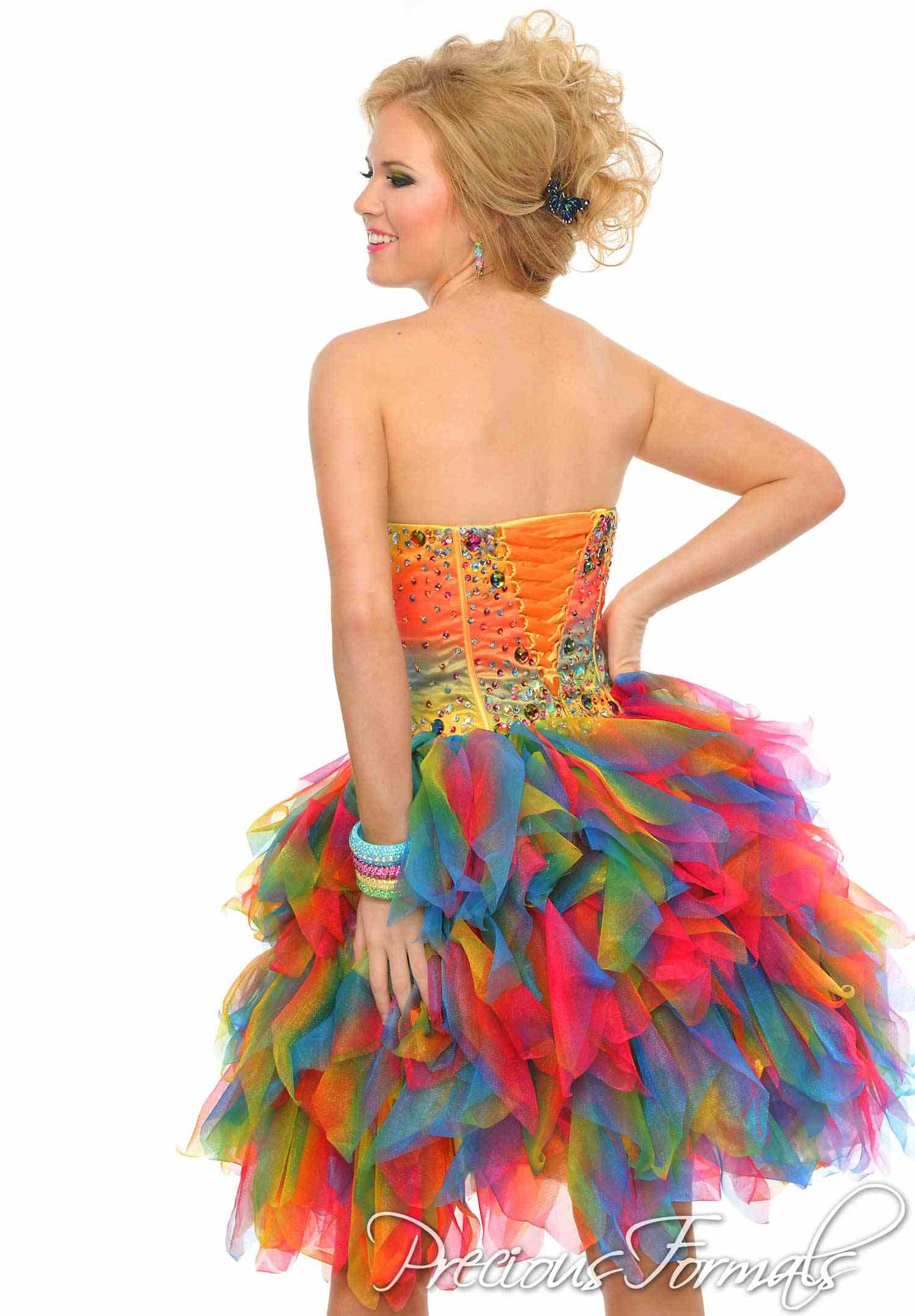 Funky Multi Colored Prom Dresses - Formal Dresses