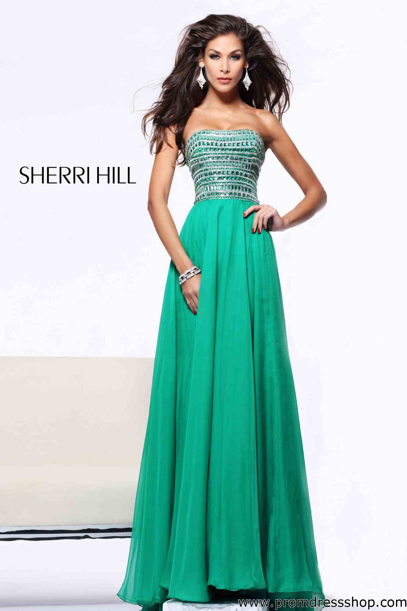Emerald green strapless prom dress - Prom dress style