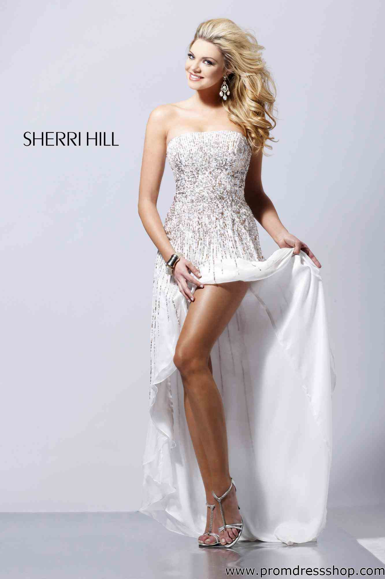 White And Silver High Low Prom Dresses - Women S Evening Dresses