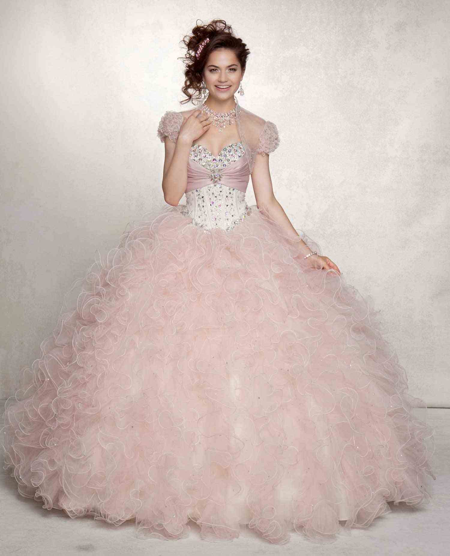 Vizcaya 88043 Quinceanera DressQuinceanera Dresses 2014 Pink And White